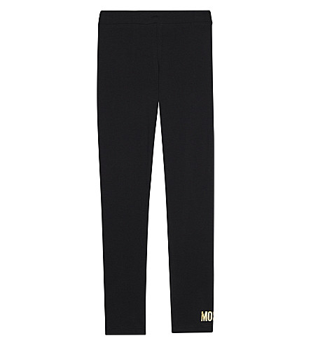 MOSCHINO Logo cotton leggings 4-14 years (Black