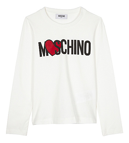 MOSCHINO Logo cotton-blend T-shirt 4-14 years (White