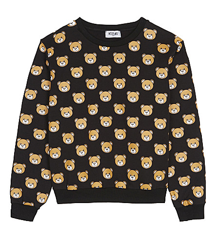 MOSCHINO Teddy cotton sweatshirt 4-14 years (Black