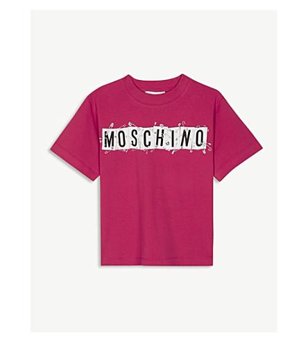 MOSCHINO Moschino cotton-blend T-shirt (Cherish+red