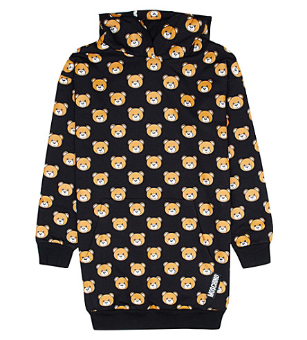 MOSCHINO Teddy-print jersey jumper dress 4-14 years (Black