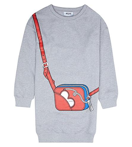 MOSCHINO Bag-print jersey dress 4-14 years (Grey