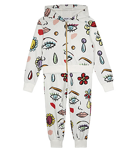MOSCHINO Face print cotton tracksuit 4-14 years (Beauty+face