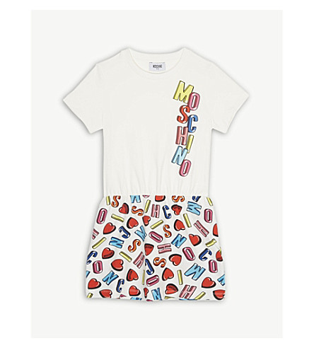 MOSCHINO Bubble logo cotton dress 4-14 years (Alpha+heart