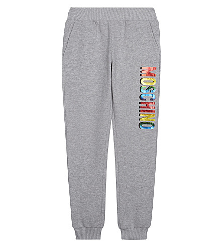 MOSCHINO Cotton logo joggers 4-14 years (Grey