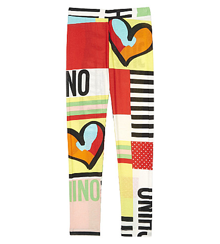 MOSCHINO Patchwork cotton leggings 4-14 years (Multicolor