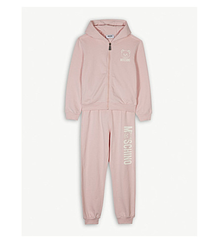MOSCHINO Bear logo cotton-blend tracksuit 4-14 years (Pink