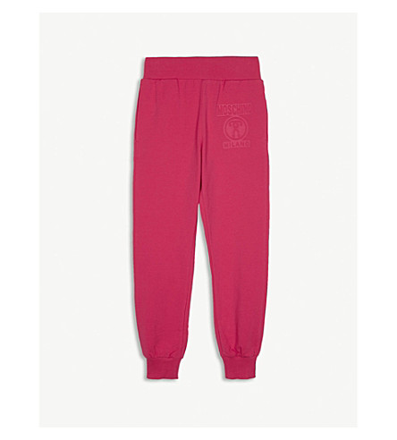 MOSCHINO Logo cotton-blend jogging bottoms 4-14 years (Pink