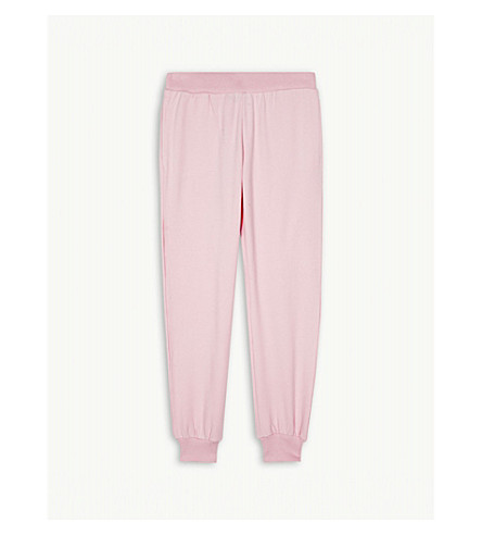 MOSCHINO 100% double bear print cotton-blend joggers 4-14 years (Rose+pink