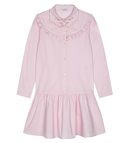 VIVETTA Ruffle collar dress 4-14 years (Pink