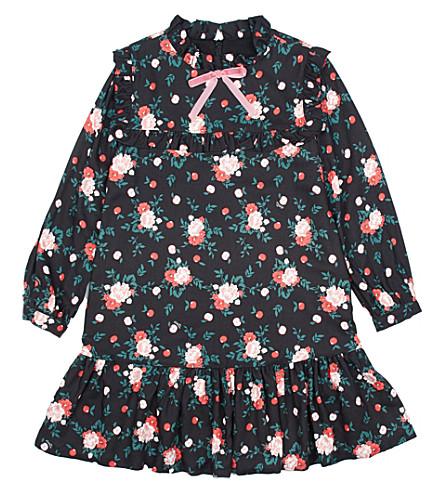 VIVETTA Apple tree-print twill dress 4-14 years (Black