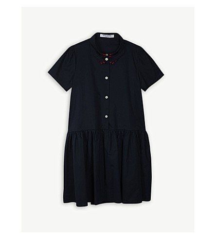 VIVETTA Hand collar cotton shirt dress 4-14 years (Navy