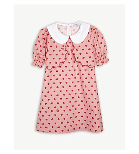 VIVETTA Iridea heart and eye print cotton dress 4-14 years (Pink/red
