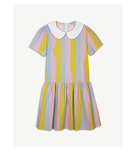 VIVETTA Candy Stripe stretch-cotton dress 4-14 years (Pink/yel/blu