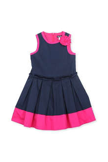 DAVID CHARLES Contrast-colour cotton-sateen dress 2-8 years