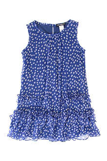 DAVID CHARLES Spotted chiffon dress 2-8 years