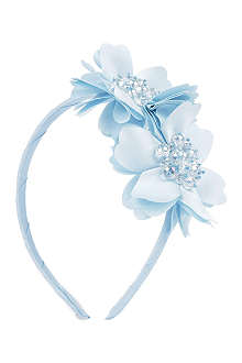 DAVID CHARLES Diamanté flower hairband
