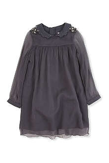 CHLOE Sheer sleeve silk dress 4-8 years