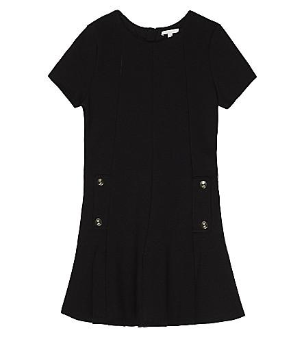 CHLOE Milano cotton-modal dress 4-14 years (Black