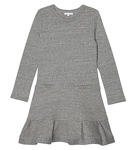 CHLOE Long sleeved jersey dress 4-14 years (Grey