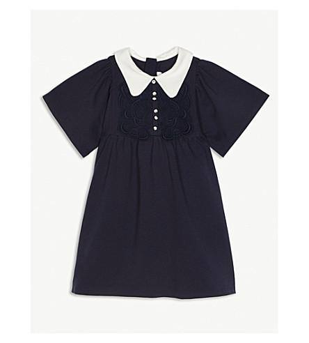 CHLOE Penny col shift dress (Navy