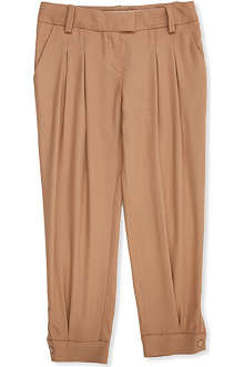CHLOE Two-pocket twill wool trousers 4-14 years