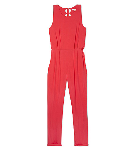 CHLOE Cutout back jumpsuit 4-14 years (Fuschia