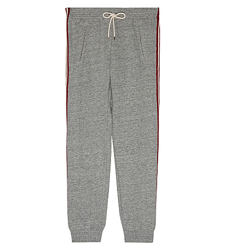 CHLOE Striped leg tracksuit bottoms 4-14 years (Grey