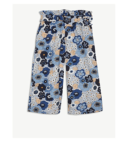 CHLOE Floral-print cotton culottes 4-14 years (Floral