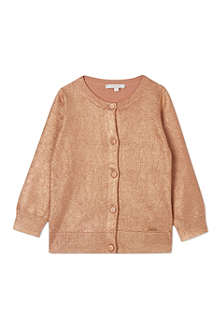 CHLOE Classic metallic cardigan 4-14 years