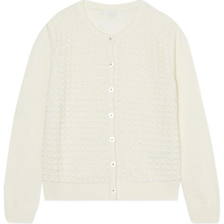 CHLOE Embroidered cardigan 4-14 years (Ivory