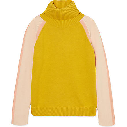 CHLOE Polo neck jumper 4-14 years (Ochre