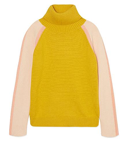 CHLOE Polo neck jumper 4-14 years (Ochre