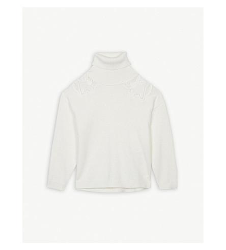 CHLOE 高领毛衣棉混纺毛衣 (白色