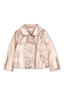 CHLOE Metallic leather jacket 4-14 years