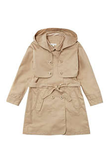 CHLOE Hooded trench coat 6-14 years