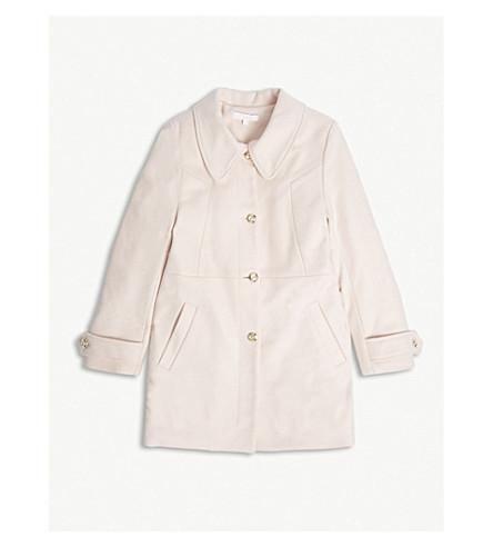 CHLOE 羊毛混纺钮扣大衣 4-14 岁 (粉红色