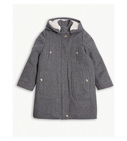 CHLOE 条纹羊毛大衣 4-14 岁 (灰色