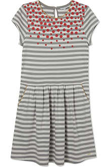 LITTLE MARC Poppy print striped dress 4-12 years