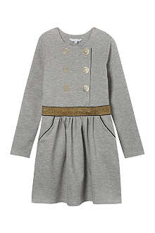 LITTLE MARC Milano button-print dress 4-14 years