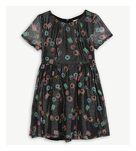 LITTLE MARC Liquorice tulle dress 4-12 years (Multi