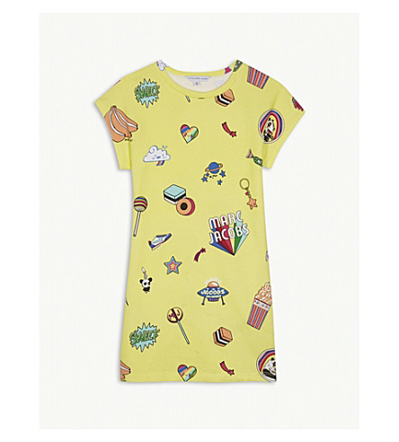 LITTLE MARC All-over print cotton jersey dress 4-14 years (Yellow