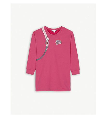 LITTLE MARC Backback print cotton dress 4-14 years (Pink
