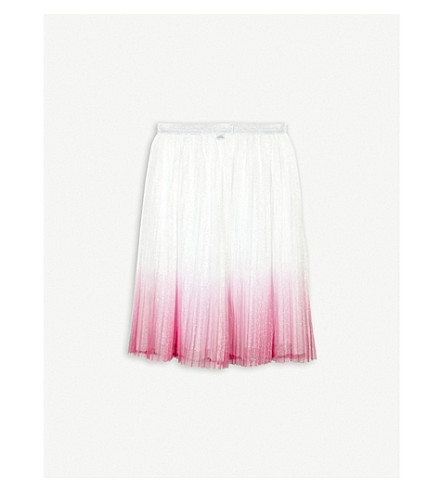 LITTLE MARC Ombre glitter tulle skirt 4-14 years (Pink