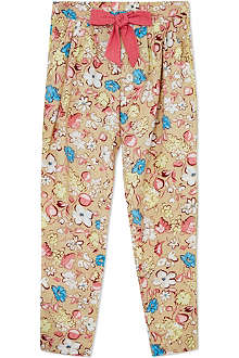 LITTLE MARC Floral tie-waist trousers 4-12 years