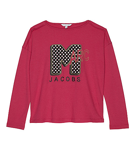 LITTLE MARC Marc Jacobs x MTV cotton & modal long-sleeved top 4-14 years (Rose+pink
