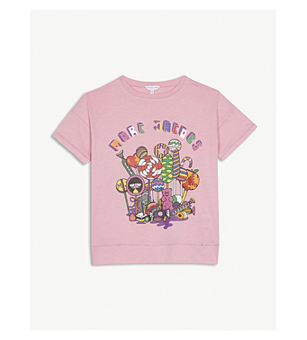 LITTLE MARC Lollipop print cotton T-shirt 4-14 years (Pink