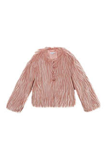 LITTLE MARC Faux fur button-up coat 8 years