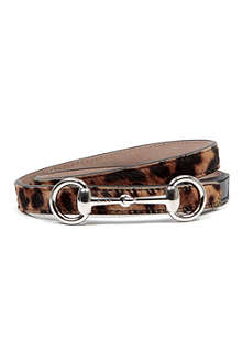 GUCCI Leopard-print belt 4-10 years