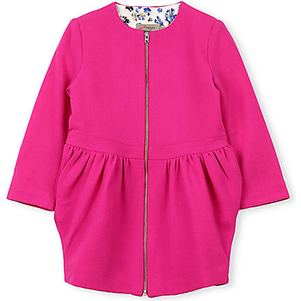 PREEN Mathilde wool crepe coat 2-8 years (Pink